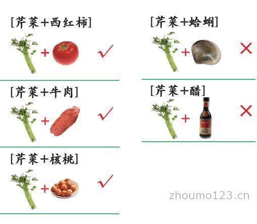 芹菜的禁忌芹菜不能与什么同食芹菜的搭配宜忌