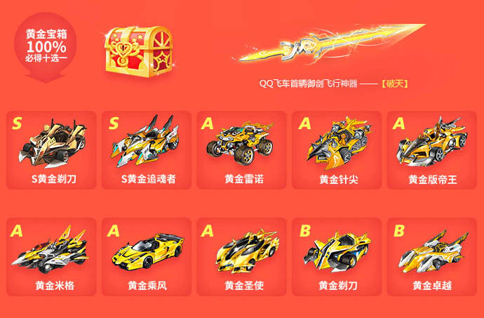 qq飞车国庆节活动 图1 全民黄金周