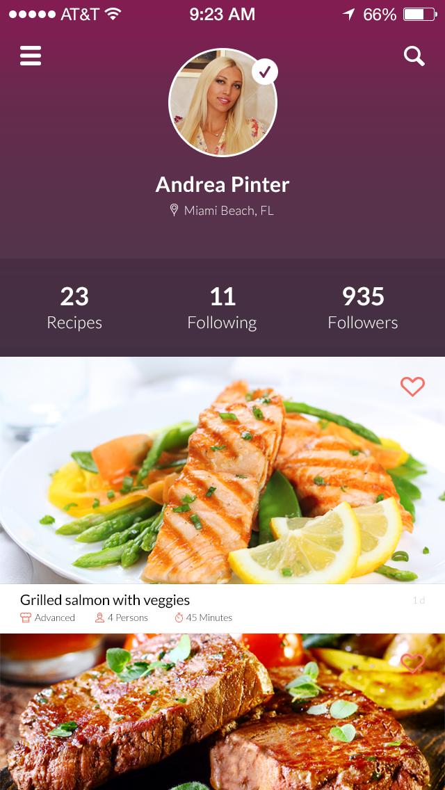 美食类app设计欣赏