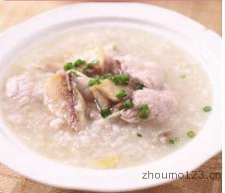咸鱼肉片粥的做法