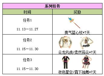 qq炫舞11月系列任务
